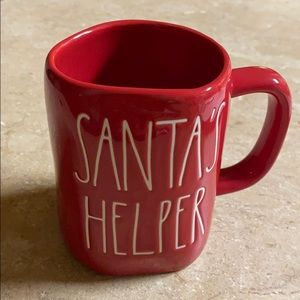 Holiday Rae Dunn Santa's Helper mug